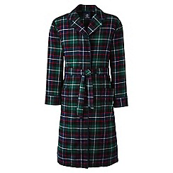 Lands' End - Green flannel dressing gown