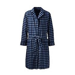 Lands' End - Blue flannel dressing gown