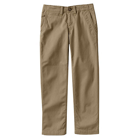 Lands+ End - Beige iron knee cadet trousers