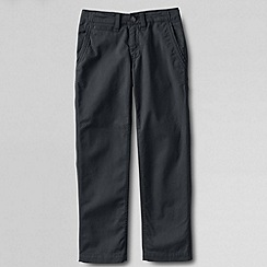 Lands' End - Grey boys' iron knee cadet trousers