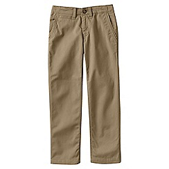 Lands' End - Beige little boys' iron knee cadet trousers