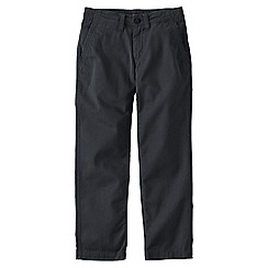 Lands' End - Grey iron knee cadet trousers
