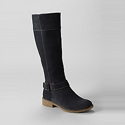 Lands' End - Black women's chalet suede knee-length boots