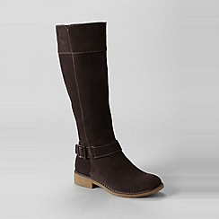 Lands' End - women's chalet suede knee-length boots