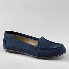 Lands' End - Blue women's suede loafers
