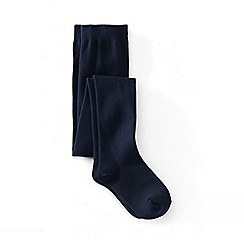 Lands' End - Blue girls' solid tights
