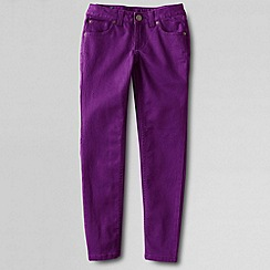 Lands' End - Purple girls' pencil leg coloured jeans