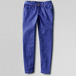 Lands' End - Blue girls' pencil leg coloured jeans