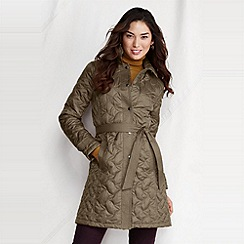 Lands' End - Green women's quilted insulator coat