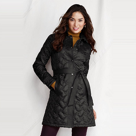 Lands+ End - Black women+s quilted insulator coat