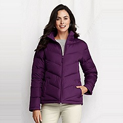 Lands' End - women's chevron quilt down jacket