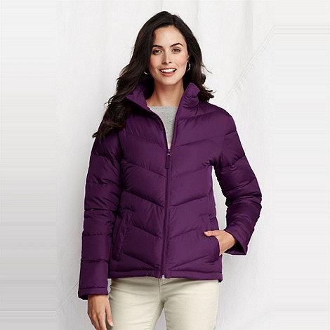 Lands+ End - women+s petite chevron quilt down jacket