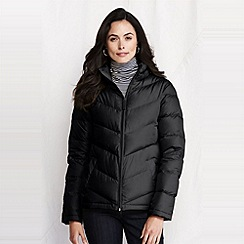 Lands' End - Black women's chevron quilt down jacket
