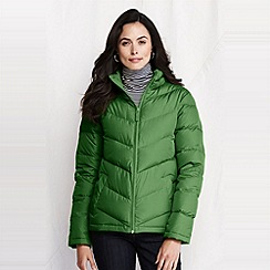 Lands' End - Green women's chevron quilt down jacket