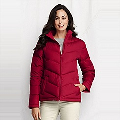 Lands' End - Red women's chevron quilt down jacket