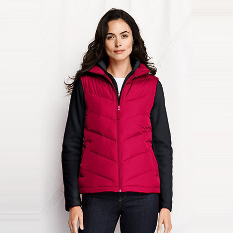 Lands+ End - Red women+s down gilet