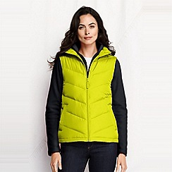 Lands' End - Green petite down gilet