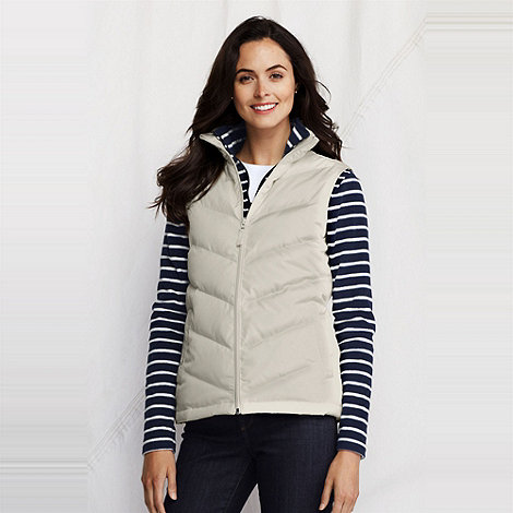 Lands+ End - Cream tall down gilet
