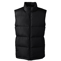 Lands' End - Black men's down gilet