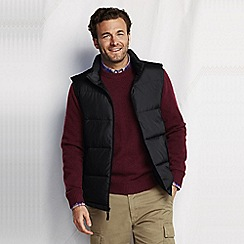 Lands' End - Black men's big down gilet