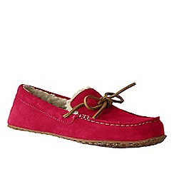 Lands' End - Red women's suede moccasin slippers