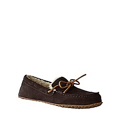 Lands' End - Brown women's suede moccasin slippers