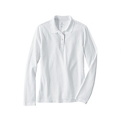Lands' End - White plus long sleeved sporty pique polo