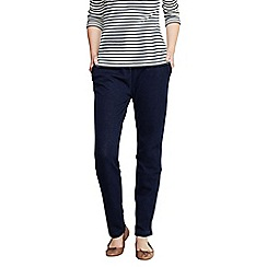 Lands' End - Blue women's regular sport knit denim trousers