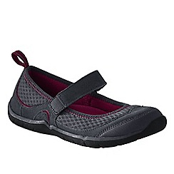 Lands' End - Grey women's wide trail sport mary jane shoes