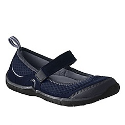 Lands' End - Blue women's wide trail sport mary jane shoes