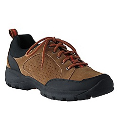 Lands' End - Brown men's wide all-day suede lace-up shoes
