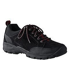 Lands' End - Black men's wide all-day suede lace-up shoes