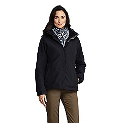 Lands' End - Black 3-in-1 squall jacket