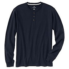 Lands' End - Blue men's tall long sleeve super-t henley