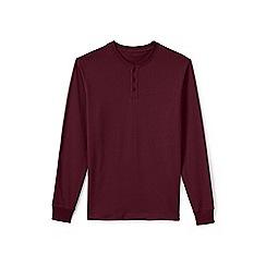 Lands' End - Red tall long sleeve henley super t-shirt