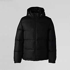 Lands' End - Black men's 600-fill hooded down jacket