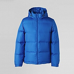 Lands' End - Blue men's 600-fill hooded down jacket