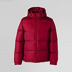 Lands' End - Red men's 600-fill hooded down jacket