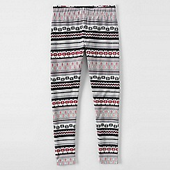 Lands' End - Grey little girls' floral ankle length leggings