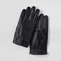 Lands' End - Black men's ez touch leather gloves