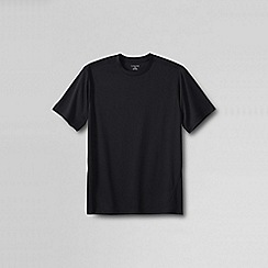 Lands' End - Black thermaskin heat crew neck base layer