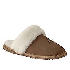 Lands' End - Brown women's sheepskin mules