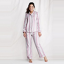 Lands' End - White women's patterned flannel pyjama top