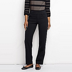 Lands' End - Black women's five-pocket stretch jersey trousers