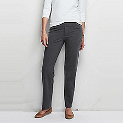 Lands' End - Grey women's five-pocket stretch jersey trousers