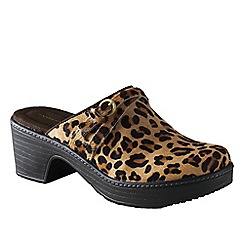Lands' End - Multi women's carly leopard print clogs