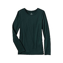 Lands' End - Green women's tall supima long sleeved crew neck tee