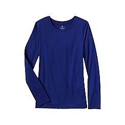 Lands' End - Blue women's tall supima long sleeved crew neck tee