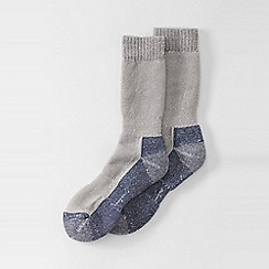 Lands' End - Grey men's snow pack boot socks