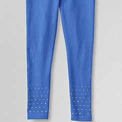 Lands' End - Blue girls' embellished hem leggings